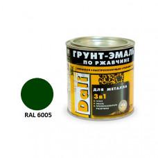 Грунт-эмаль по ржавчене зел.мох RAL6005 0,75л DALI