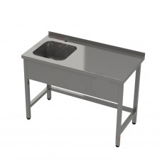 Ванна моечная с одной сварной раковиной 1200*600*850