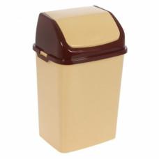 Ведро пласт д/мусора 10,5 премиум беж/кор.